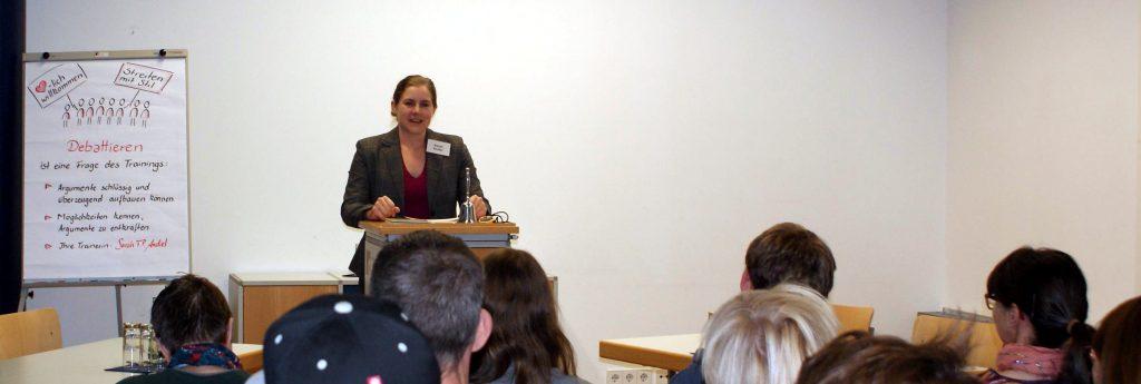 Sarah T. P. Andiel im Werkstattgespräch